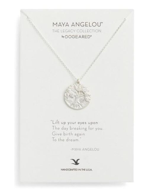 Dogeared - Metallic The Legacy Collection - Lift Up Your Eyes Upon. Pendant Necklace - Lyst