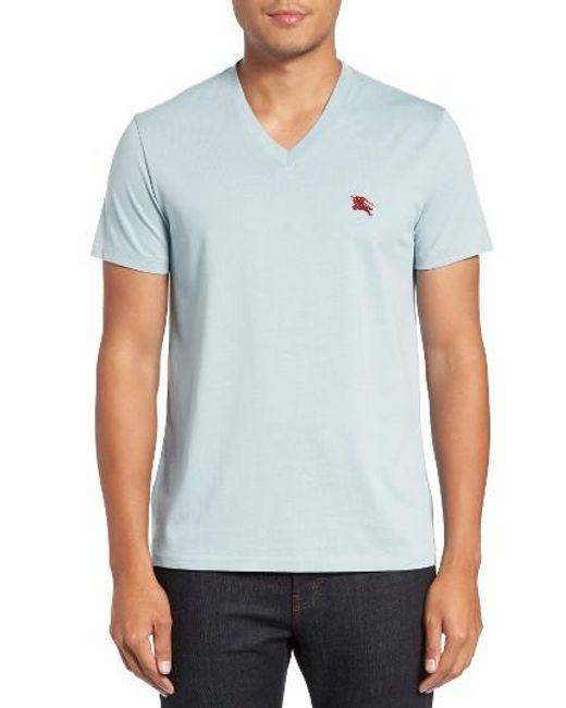 Burberry | Black Lindon Cotton T-shirt for Men | Lyst