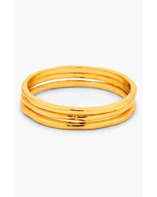 Gorjana | Metallic 'g Ring' Midi Rings (set Of 3) | Lyst