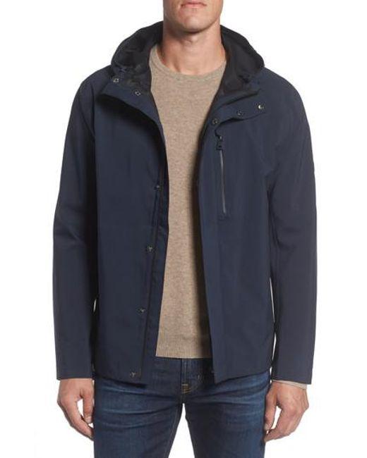 Andrew Marc | Blue Marc New York Stratus Waterproof Hooded Rain Jacket for Men | Lyst
