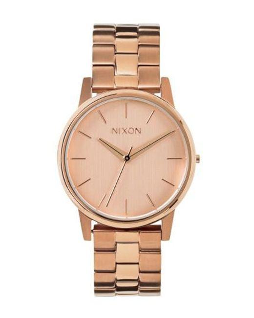 Nixon | Metallic 'the Small Kensington' Bracelet Watch | Lyst