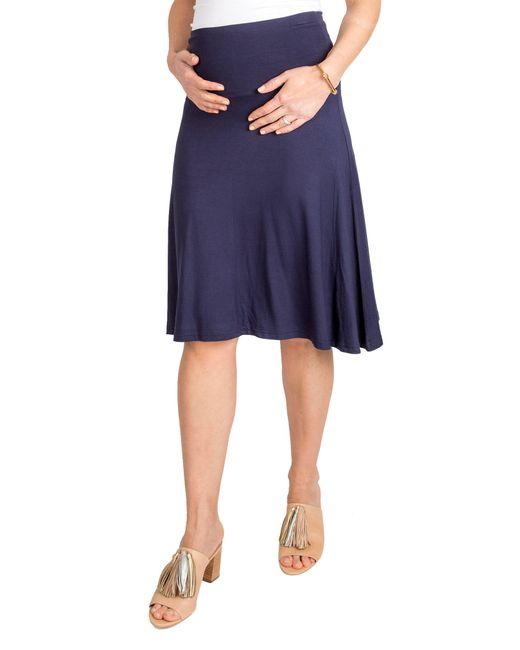 Nom Maternity Blue Nom Nola Maternity Skirt