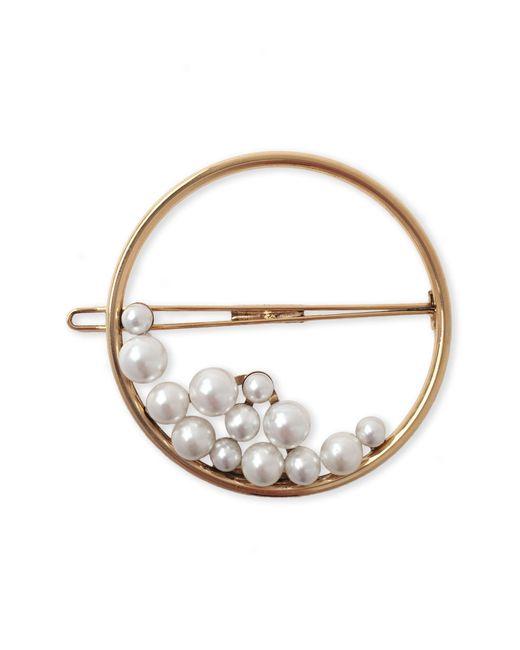 Lelet Ny - Metallic Ocean Pearl Ring Barrette - Lyst