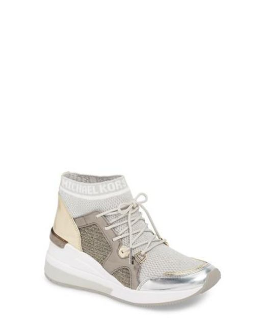 MICHAEL Michael Kors - White Hilda Wedge Sneaker - Lyst