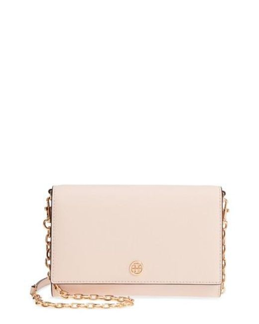 Tory Burch - Red Robinson Leather Wallet On A Chain - Lyst