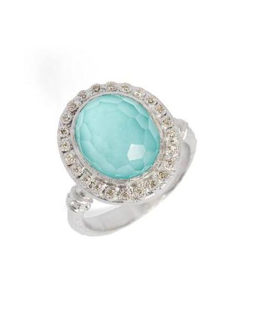 Armenta - Blue New World Diamond & Turquoise Ring - Lyst
