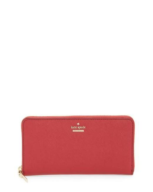 Kate Spade | Black 'cameron Street - Lacey' Leather Wallet | Lyst