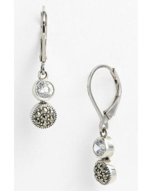 Judith Jack - Metallic Marcasite Earrings - Lyst