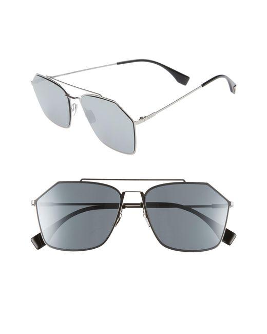 Fendi - Multicolor 59mm Navigator Sunglasses - Ruthenium for Men - Lyst