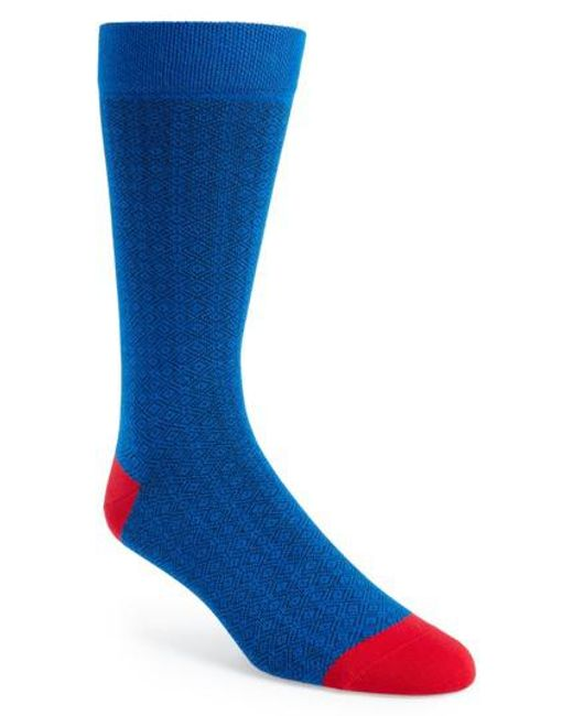 Ted Baker - Blue Geometric Socks for Men - Lyst