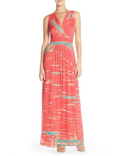 Fraiche By J - Blue Tie Dye Ombre Jersey Maxi Dress - Lyst