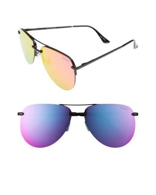 Quay - Multicolor The Playa 64mm Aviator Sunglasses - Lyst