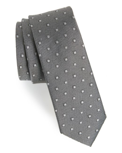 Calibrate - Gray Felsic Geometric Silk Tie for Men - Lyst