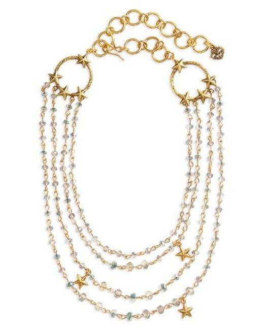 Virgins, Saints & Angels - Metallic Coronation Crystal Magdalena Multistrand Necklace - Lyst