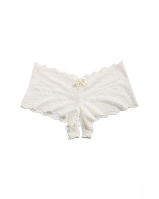 Hanky Panky - White Open Gusset Panty - Lyst