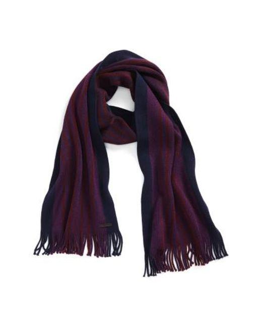 Ted Baker   Purple Elmm Stripe Wool Scarf for Men   Lyst