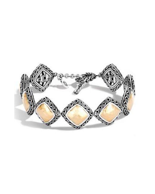 John Hardy | Metallic Classic Chain Heritage Quadrangle Bracelet | Lyst