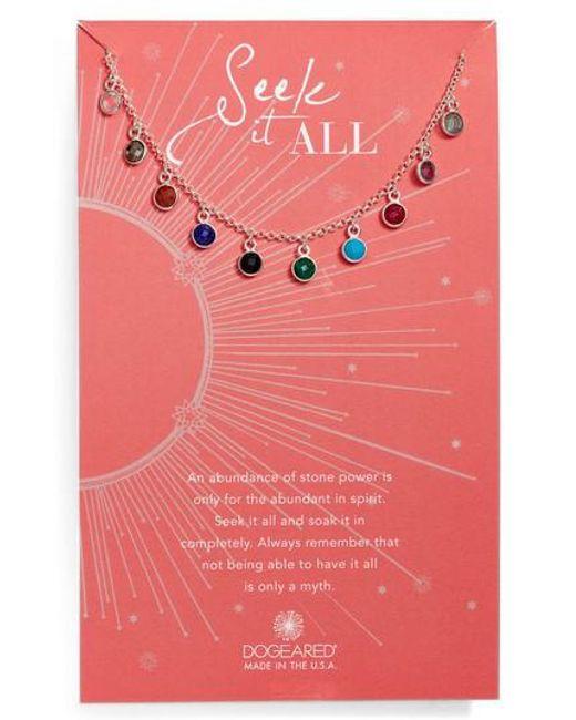 Dogeared | Metallic Seek It All Pendant Necklace | Lyst