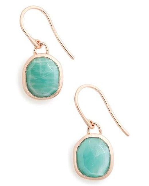 Monica Vinader | Blue Siren Semiprecious Stone Drop Earrings | Lyst