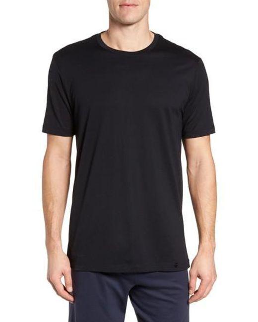 Hanro - Black Night & Day Crewneck T-shirt for Men - Lyst