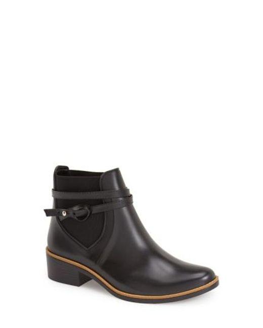 Bernardo | Black 'Peony' Short Waterproof Rain Boot | Lyst