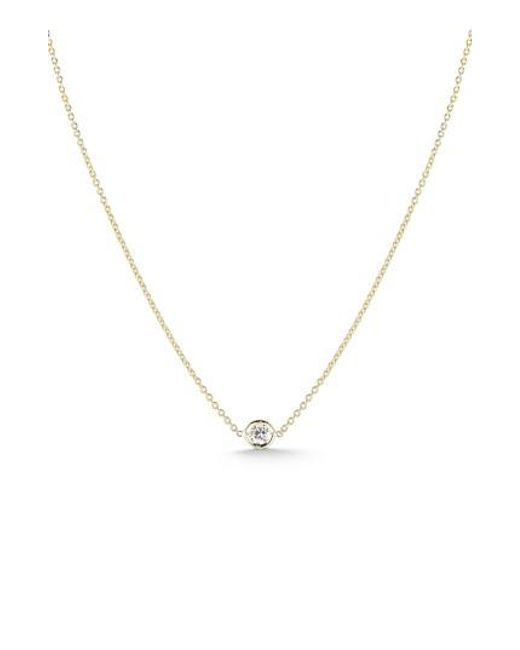 Roberto Coin - Metallic Tiny Treasures Diamond Bezel Necklace - Lyst