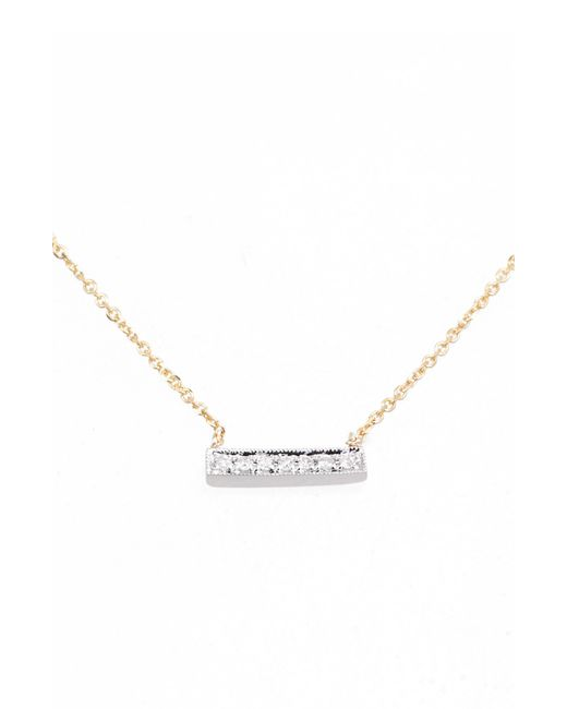 Dana Rebecca - Metallic 'sylvie Rose' Diamond Bar Pendant Necklace - Lyst