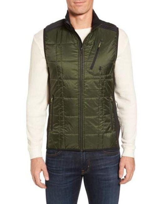 Smartwool | Green 'corbet 120' Quilted Zip Front Vest for Men | Lyst