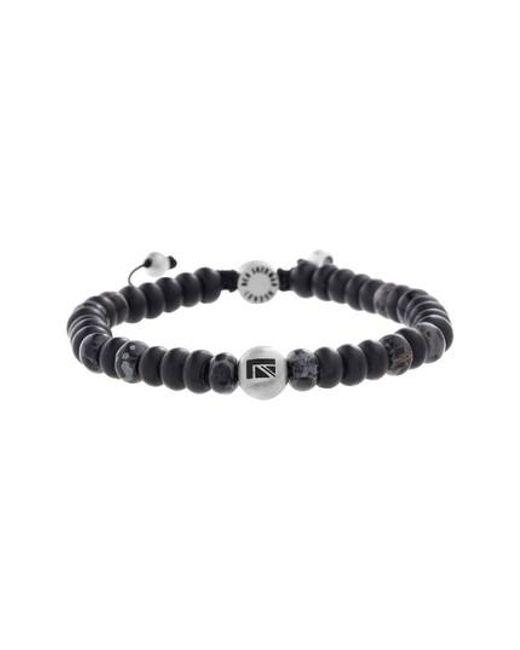 Ben Sherman - Black Stone Bead Bracelet for Men - Lyst