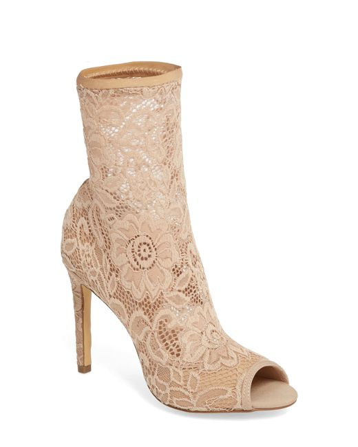Charles David - Black Imaginary Lace Sock Bootie - Lyst