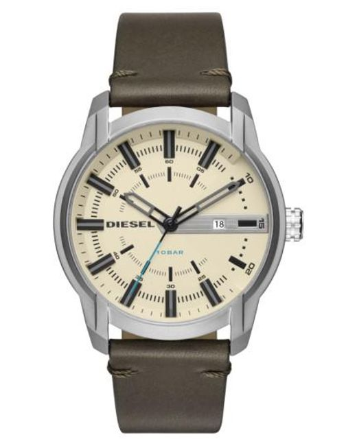 DIESEL | Metallic Diesel Armbar Leather Strap Watch for Men | Lyst
