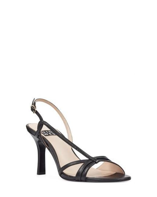 Nine West - Black Accolia Asymmetrical Strappy Sandal - Lyst