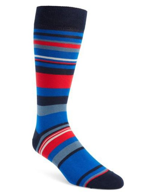 Ted Baker - Blue Harisli Stripe Socks - Lyst
