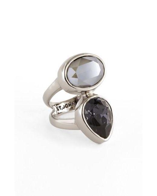 St. John Swarovski Crystal Ring mvKcy