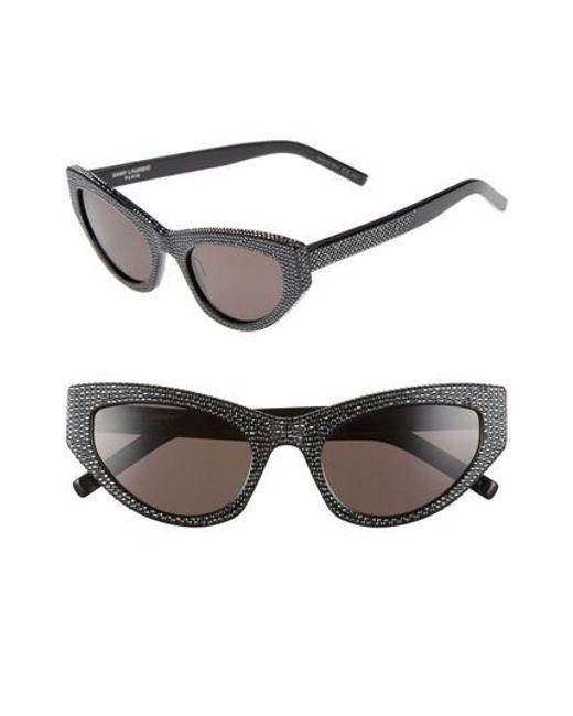 Saint Laurent - Black Grace 54mm Sunglasses - Lyst
