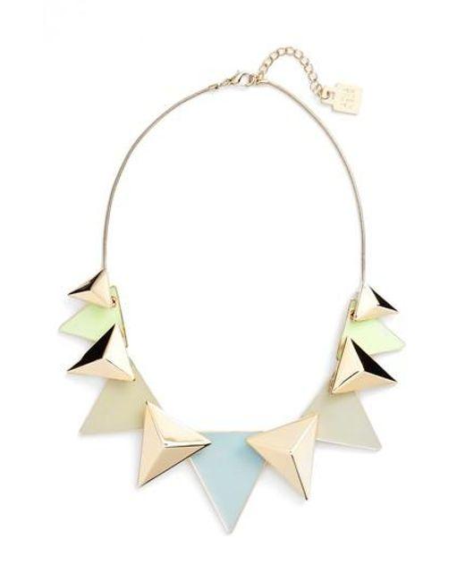 Adia Kibur | Metallic Layered Triangle Statement Necklace | Lyst
