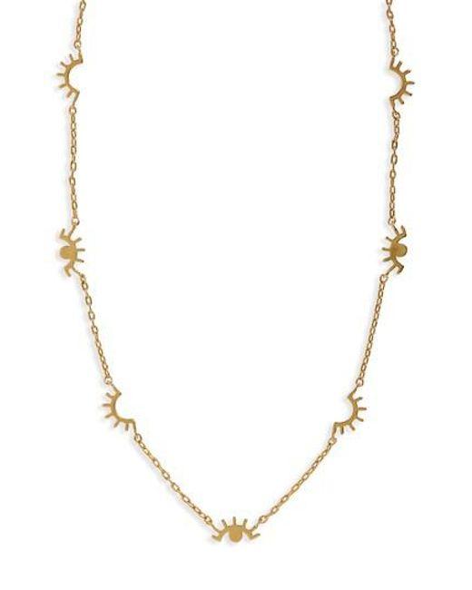 Madewell - Metallic Eye Charm Necklace - Lyst