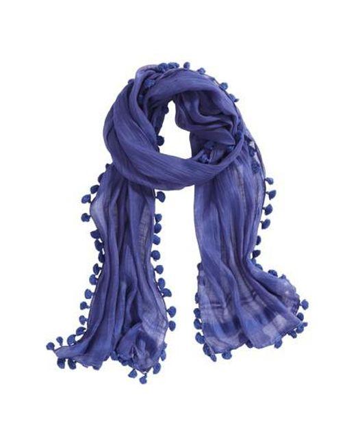 La Fiorentina   Purple Tassel Silk Scarf   Lyst