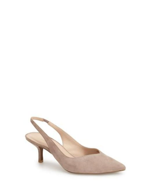 Pelle Moda | Natural 'oasis' Pointy Toe Slingback Pump | Lyst