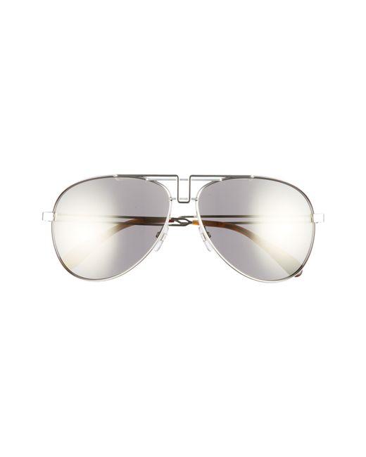 1cb57b385 ... Givenchy - Metallic 61mm Aviator Sunglasses - Palladium for Men - Lyst