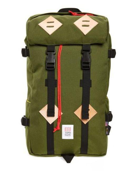Topo Designs - Green Klettersack Backpack for Men - Lyst