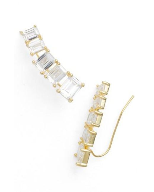 CZ by Kenneth Jay Lane | Metallic Ear Crawlers | Lyst