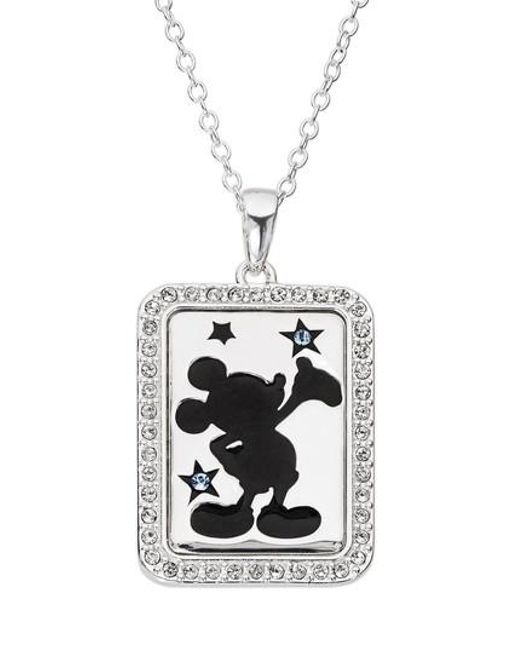 Disney - Metallic Mickey Mouse 'dream Bigger' Crystal Accent Pendant Necklace - Lyst