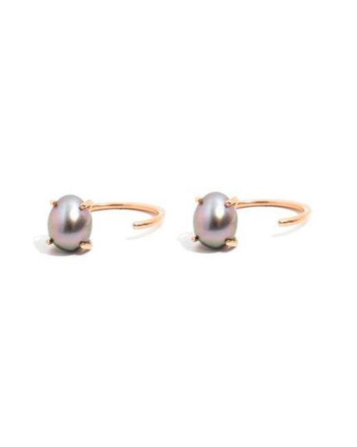 Melissa Joy Manning | Metallic Tahitian Pearl Hoop Earrings | Lyst