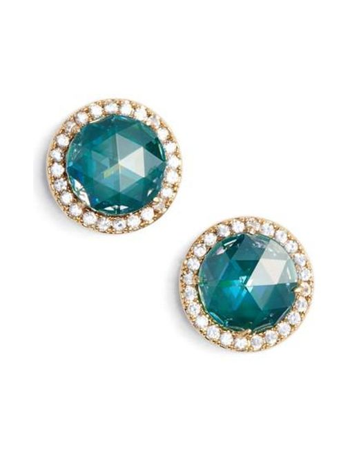 Kate Spade | Green Bright Ideas Pave Halo Stud Earrings | Lyst