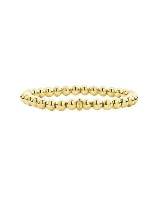 Lagos - Metallic Caviar Gold Ball Stretch Bracelet - Lyst