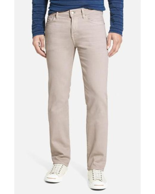 7 For All Mankind | Natural 7 For All Mankind 'slimmy - Luxe Performance' Slim Fit Jeans for Men | Lyst