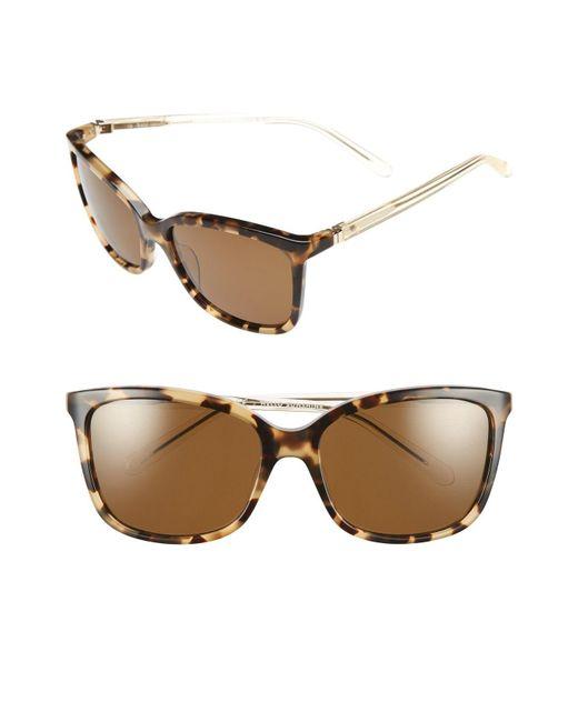 Kate Spade - Brown 'kasie' 55mm Polarized Sunglasses - Havana/ Honey - Lyst