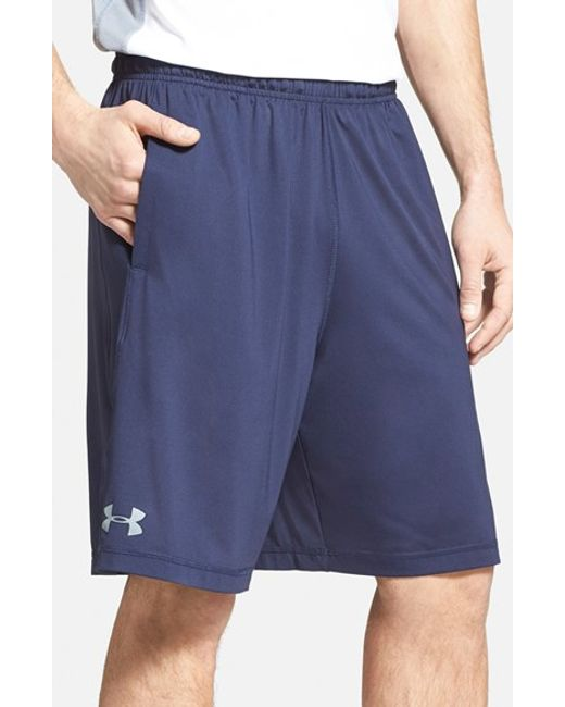 Under Armour | Blue 'raid' Heatgear Loose-fit Athletic Shorts for Men | Lyst