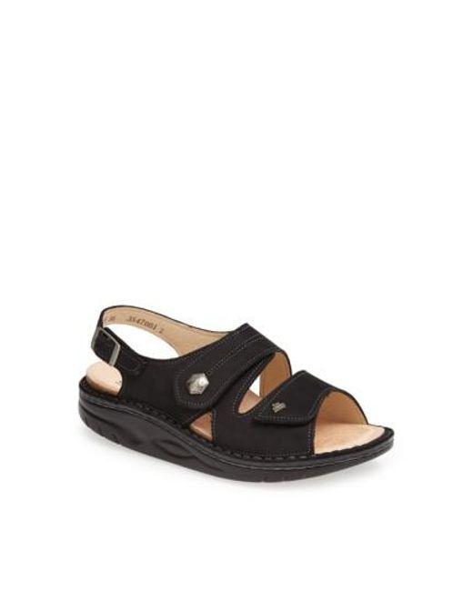 Finn Comfort - Black 'sparks' Sandal - Lyst